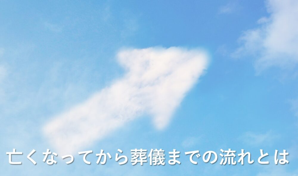 流れをイメージした雲